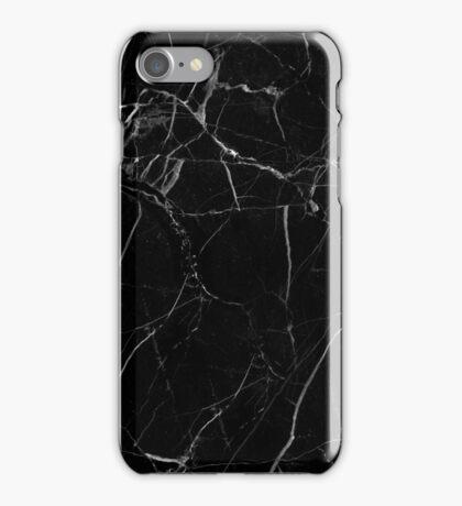 Marble - Black iPhone Case/Skin