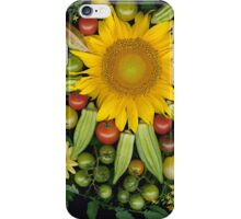 Sunflower, Okra Mosaic iPhone Case/Skin