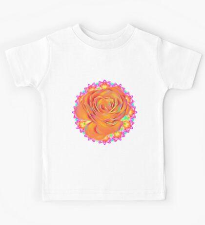 Psychedelic Rose Mandala  Kids Tee