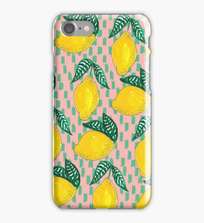 lemon pattern iPhone Case/Skin