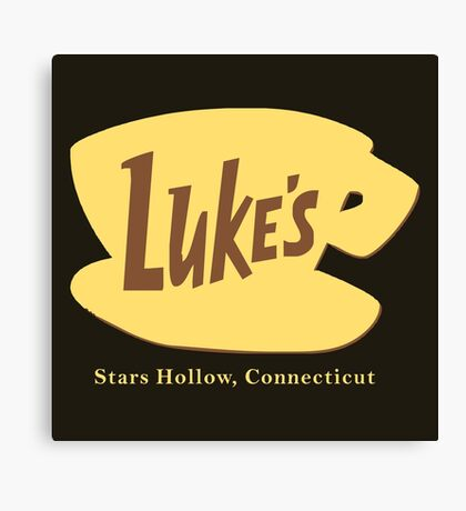 The Lukes Diner Canvas Print