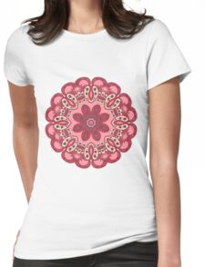 Colorful mandala red Womens Fitted T-Shirt