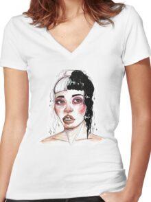 little body big heart Women's Fitted V-Neck T-Shirt