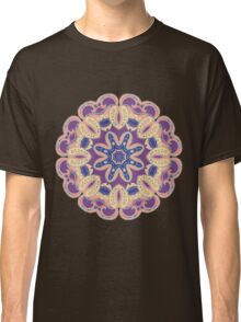 Colorful mandala violet and orange Classic T-Shirt