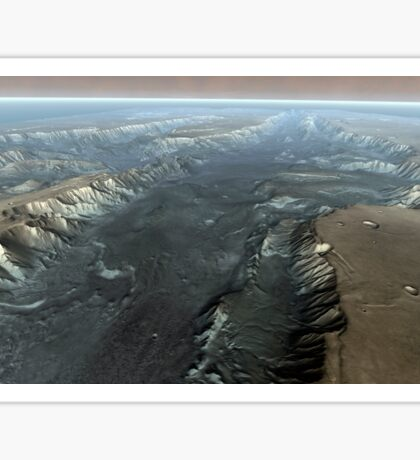 Valles Marineris, the Grand Canyon of Mars. Sticker