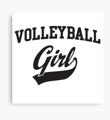 Volleyball Girl Canvas Print
