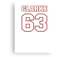 NFL Player Brian Clarke sixtythree 63 Canvas Print