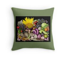 Dudley Farm Harvest Mosaic Throw Pillow
