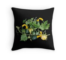 Trout Lily Farm Gourd Garden Throw Pillow