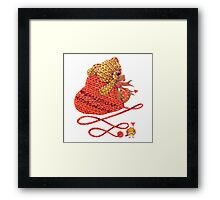 teddy biar Framed Print