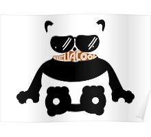 Mustache Hella Cool Panda Poster
