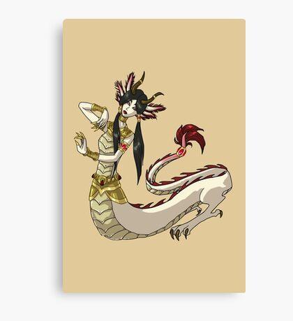 Salamander Dragon Girl MONSTER GIRLS Series I Canvas Print