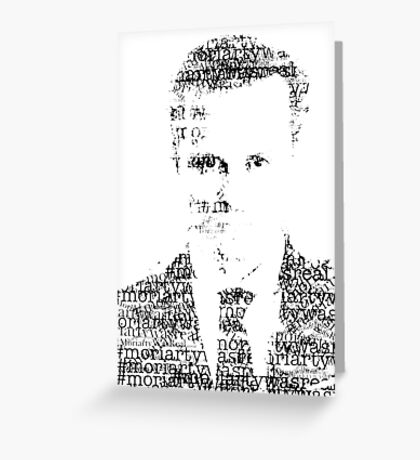 james moriarty Greeting Card