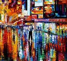 The Vibration Of The Night — Buy Now Link - www.etsy.com/listing/209813653 by Leonid  Afremov