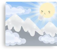 Cute Sky 30- Mountains Canvas Print