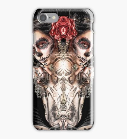 Dark Thoughts Hot Girls And Anarchy Symbols iPhone Case/Skin
