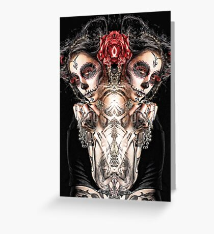 Dark Thoughts Hot Girls And Anarchy Symbols Greeting Card