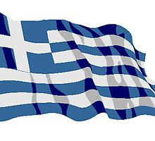 Greece Flag by kwg2200
