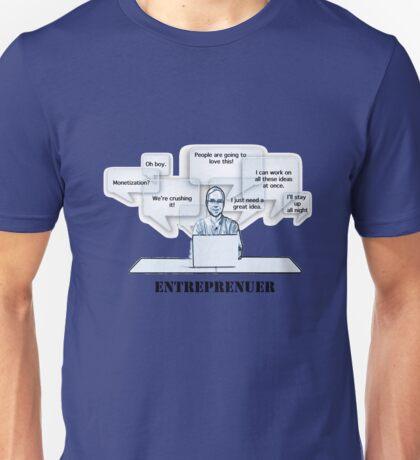 Entrepreneur Words Feelings Thoughts Mind Unisex T-Shirt