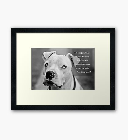 Tell Me Please Framed Print