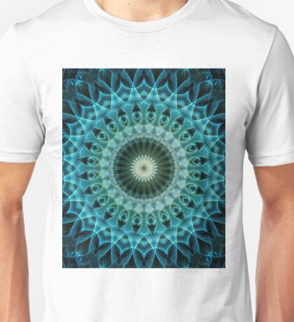 Mandala in light blue and green Unisex T-Shirt
