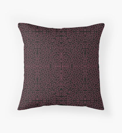 microscopic crystals Throw Pillow