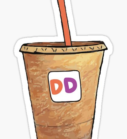 Dunkin Donuts Med. Iced Coffee Sticker