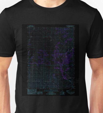 USGS TOPO Map California CA Snowstorm Mountain 295242 1989 24000 geo Inverted Unisex T-Shirt