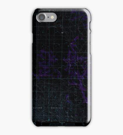 USGS TOPO Map California CA Snowstorm Mountain 295242 1989 24000 geo Inverted iPhone Case/Skin