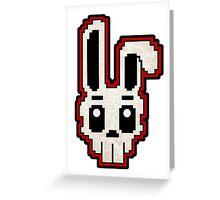 PIXEL ART - RABBIT SKULL (RED) Greeting Card