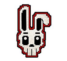 PIXEL ART - RABBIT SKULL (RED) Photographic Print