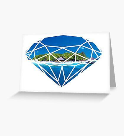 An island in diamond Greeting Card
