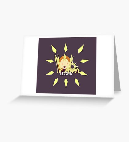 League of Legends - LEONA Greeting Card