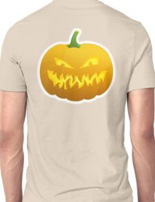 Jack O' Lantern, Halloween, Pumpkin, on BLACK Unisex T-Shirt