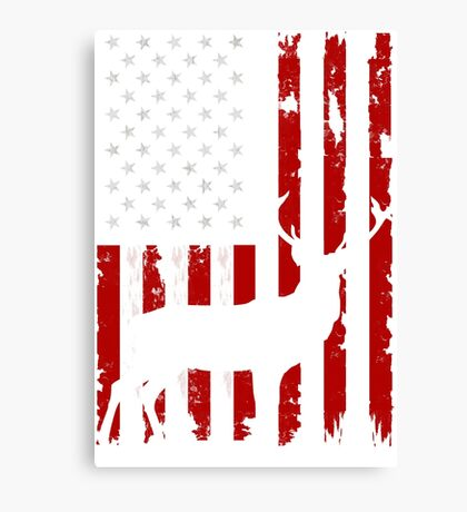 american deer hunting flag Canvas Print