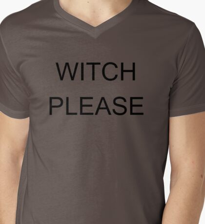 WITCH PLEASE Mens V-Neck T-Shirt