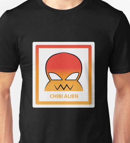 Chibi Alien 3 Orange Unisex T-Shirt