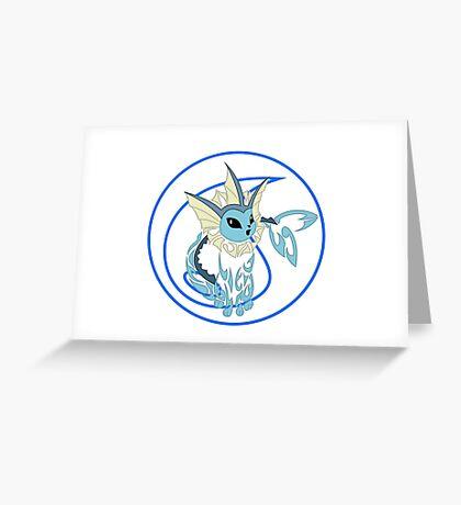Vaporeon Tribal Greeting Card