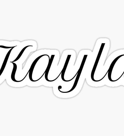 Kayla Sticker