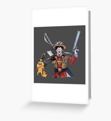The ultimate popular anime protagonist Greeting Card