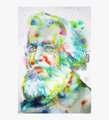ERNST HAECKEL - watercolor portrait Photographic Print