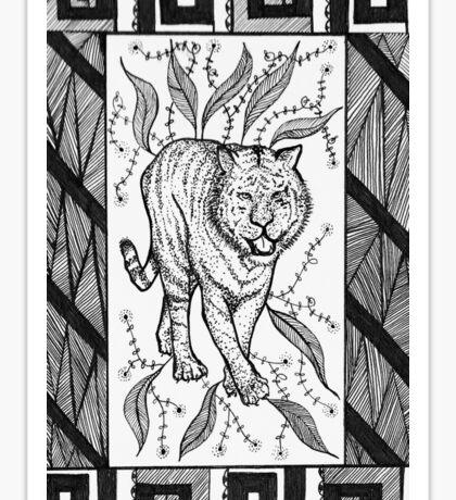 Tribal Tiger Sticker