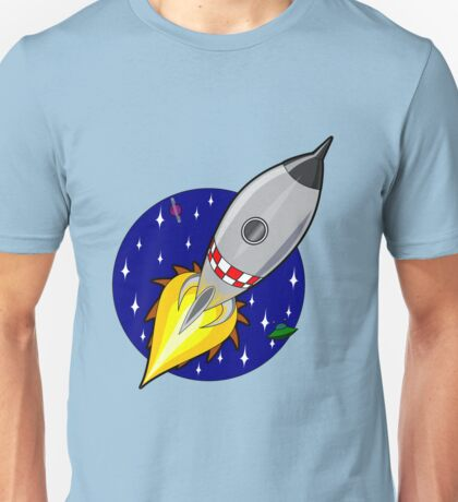 Space ship in galaxy illustration Unisex T-Shirt