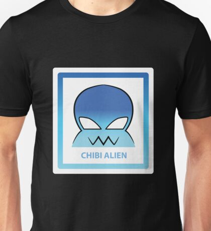 Chibi Alien 5 Light Blue Unisex T-Shirt