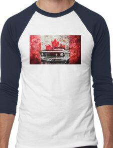 Canadian Muscle Mustang - Graphic version Men's Baseball ¾ T-Shirt