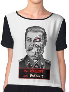 Stalinator - this machine kills fascists Chiffon Top