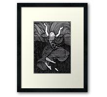 Drowning girl  Framed Print