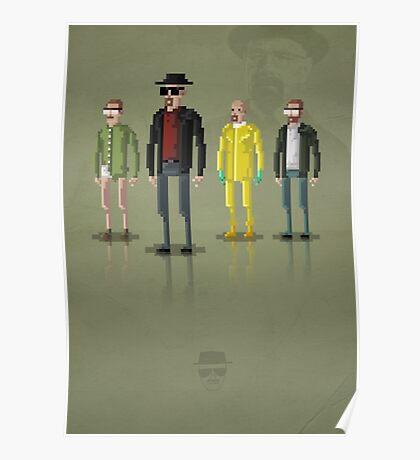 8-Bit TV Breaking Bad Heisenberg Poster