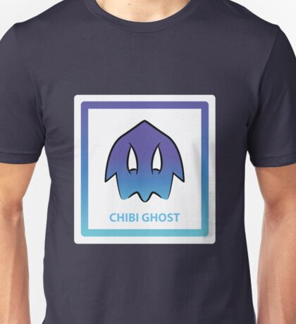 Chibi Ghost 1 Blue Unisex T-Shirt