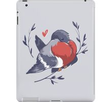 Red Heart Bird iPad Case/Skin
